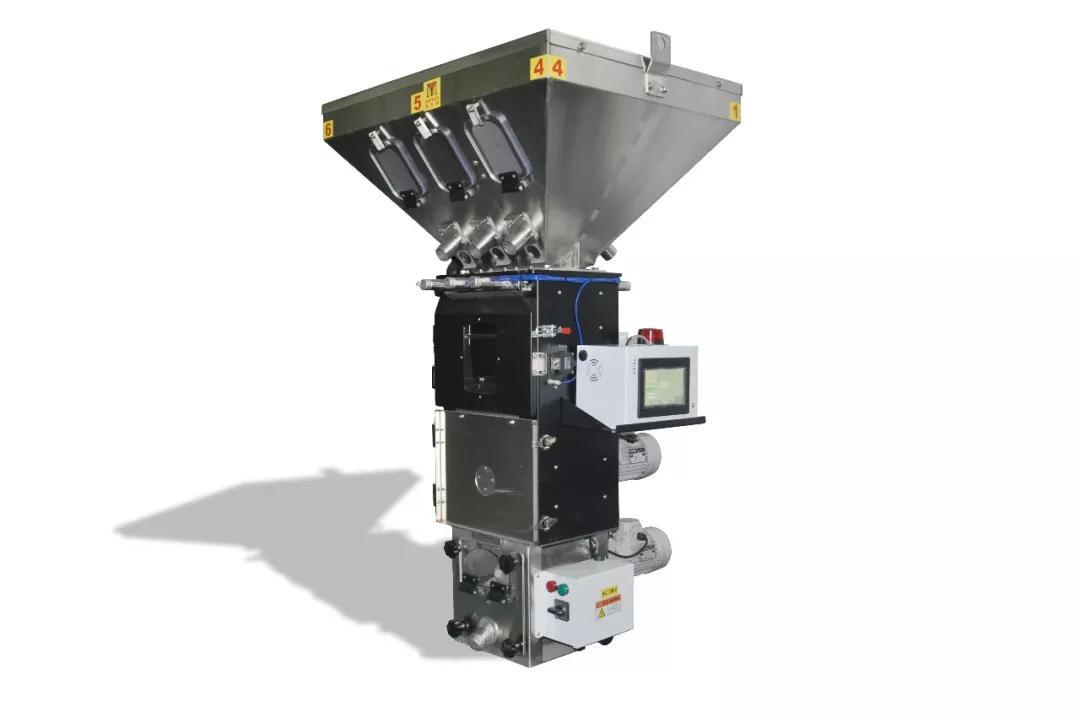 塑料行业辅机介绍:自动称重混料机